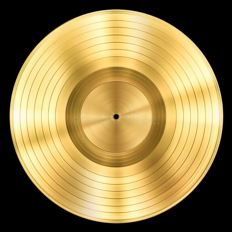 För musikdiskett för guld isolerad rekord- utmärkelse royaltyfri bild