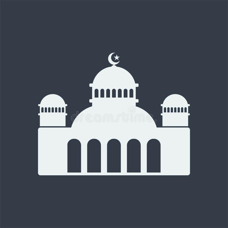 för muslimlättnad för moské islamisk design för lägenhet för konst, byggnad för seorengöringsdukdesign royaltyfri illustrationer