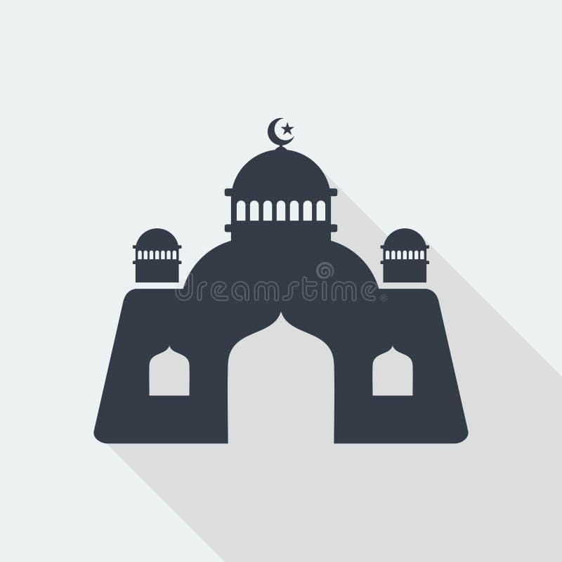 för muslimlättnad för moské islamisk design för lägenhet för konst, byggnad för seorengöringsdukdesign arkivbild
