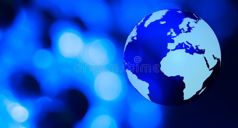 För nätverksblått för värld futuristisk bakgrund royaltyfri foto