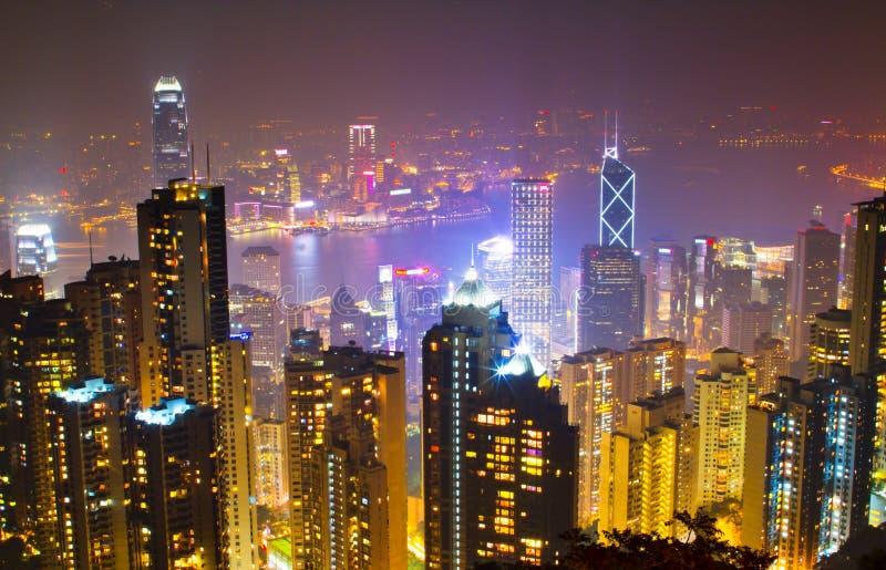 för nattmaximum för 3 Hong Kong plats arkivfoton