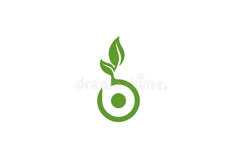 För naturblad för bokstav B logo vektor illustrationer