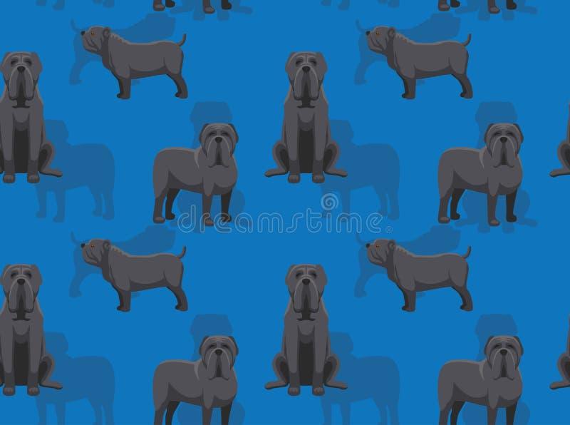 För Neapolitan sömlös tapet mastifftecknad film för hund vektor illustrationer