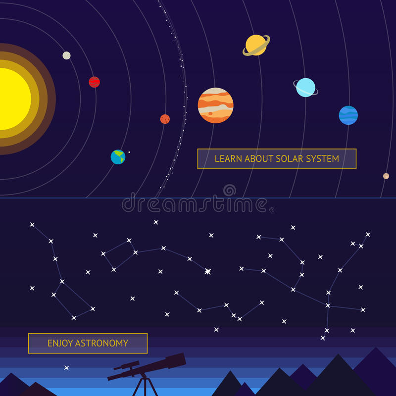 för nebulaplanet för baner set avstånd för härlig plats royaltyfri illustrationer