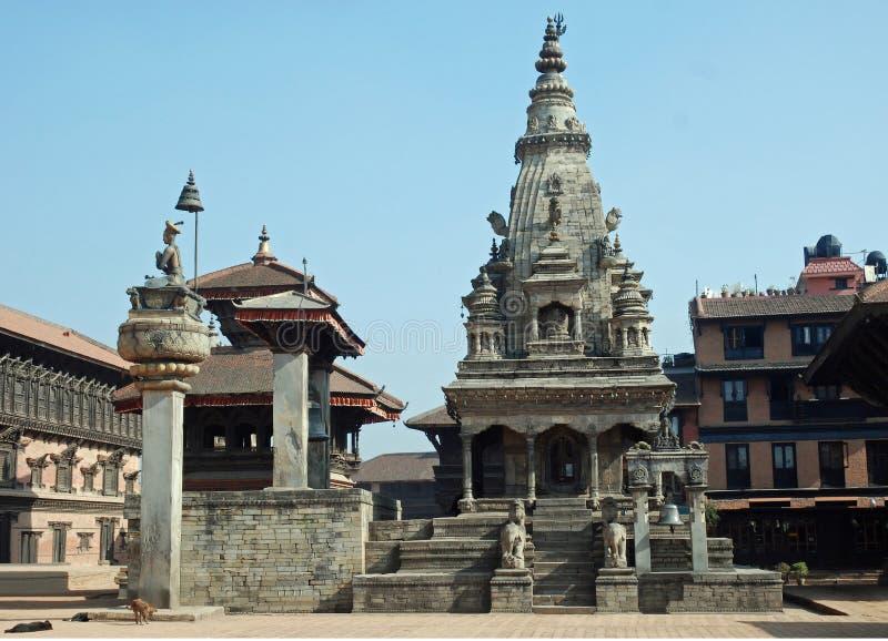 för nepal för bhaktapur durbar vatsala fyrkantig tempel royaltyfri bild