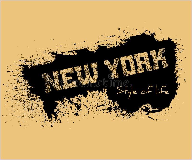 För New York för diagram för T-skjortatypografi liv stil vektor illustrationer
