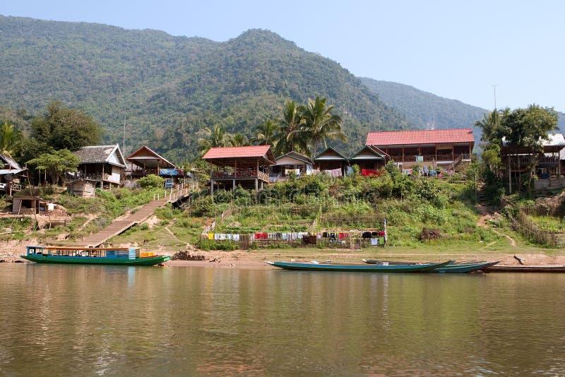 by för ngoi för neua för fiskelaos muang arkivfoton