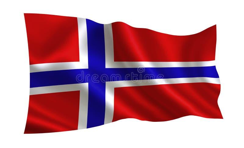 för norway för tillgänglig flagga glass vektor stil En serie av `-flaggor av världen ` Landet - Norge flagga royaltyfri illustrationer