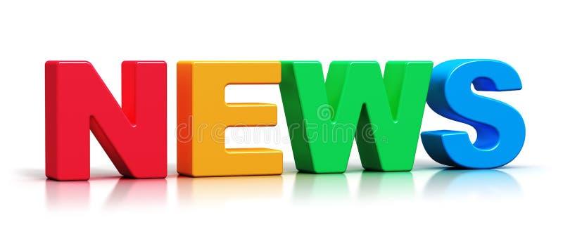 För nyheternaord för färg 3D text stock illustrationer
