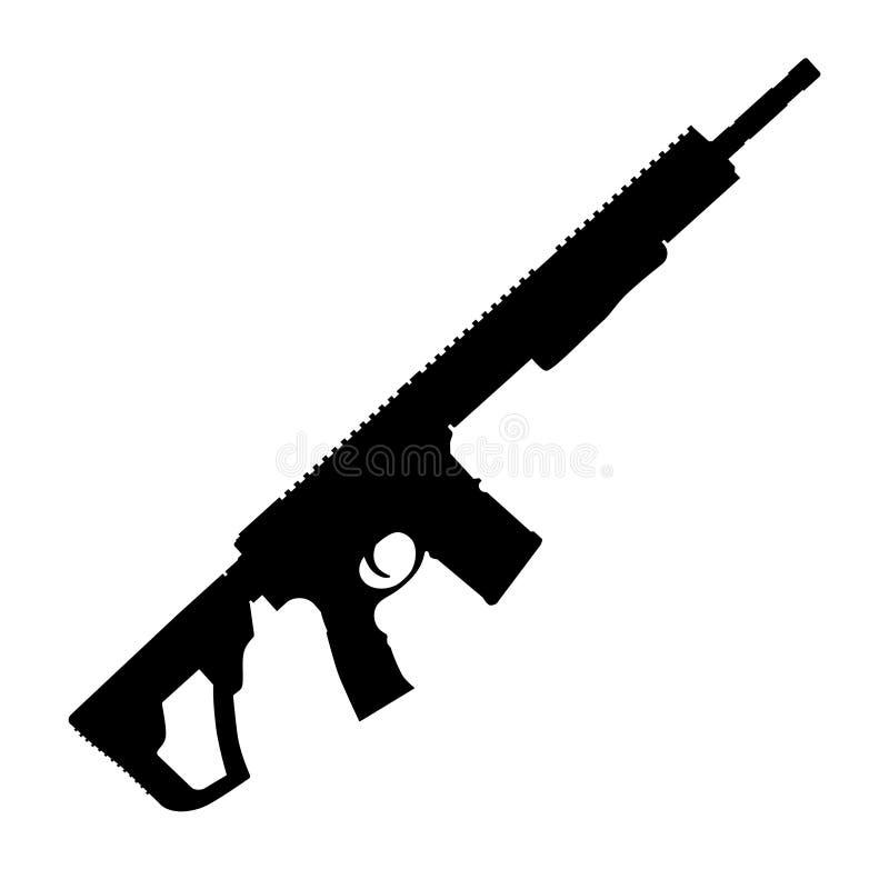 för objektgevär för anfall bakgrund isolerad white vektor illustrationer