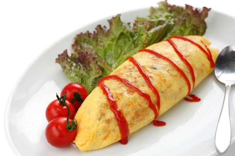 för omelettomurice för mat japansk rice arkivbilder