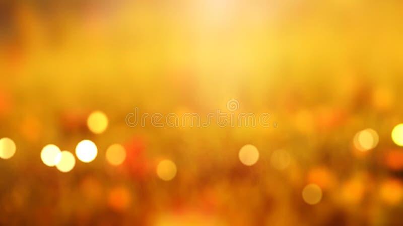 För orange panorama- suddig sikt banernatur för nedgång stock illustrationer