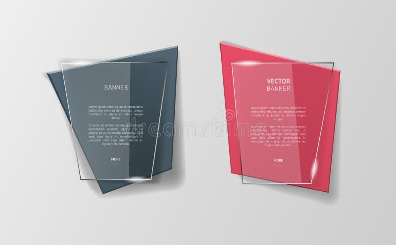 För origamibaner för vektor infographic uppsättning stock illustrationer