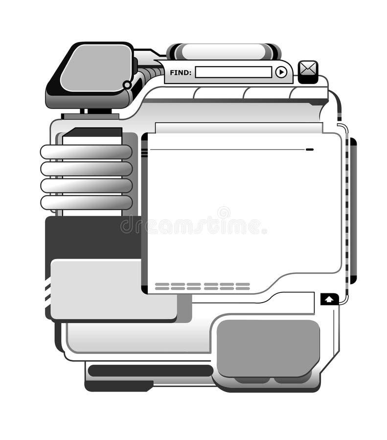 för origmall för 01 design rengöringsduk stock illustrationer