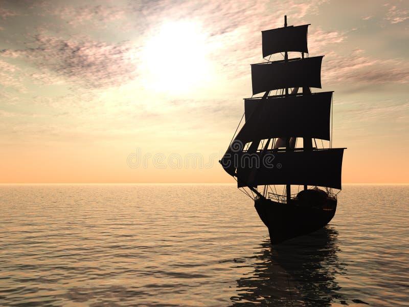 för otta havsship ut stock illustrationer