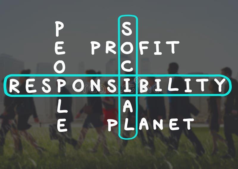 För pålitlighetspålitlighet för socialt ansvar begrepp för etik royaltyfri bild