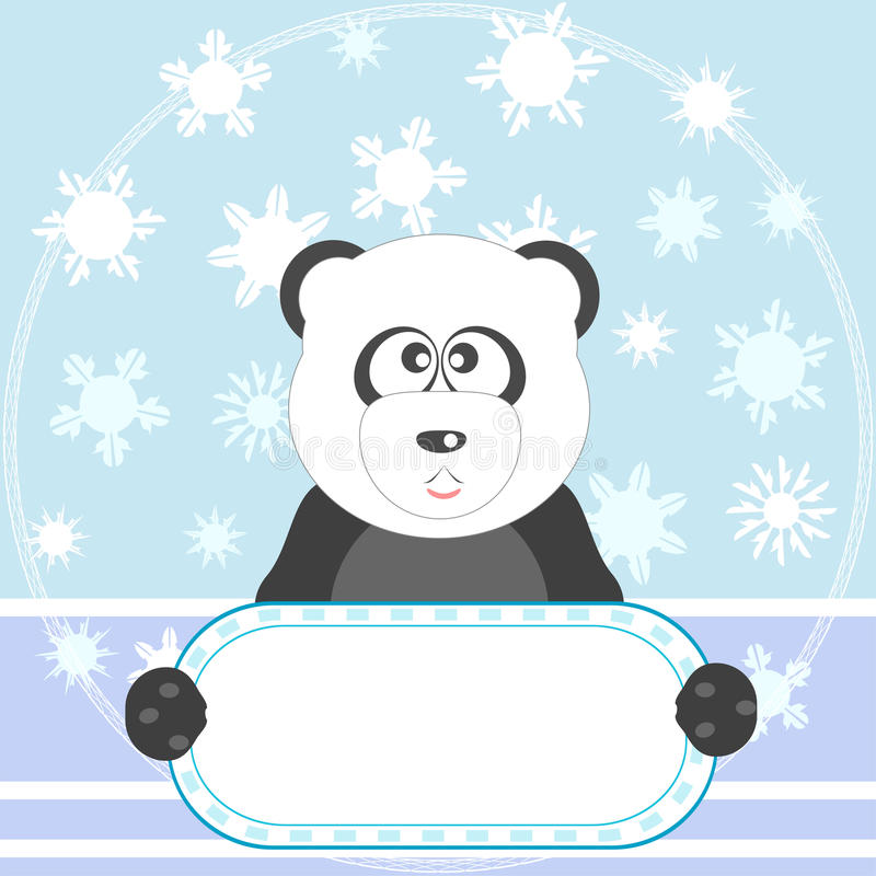 för pandasnow för bakgrund blank tom vektor vektor illustrationer