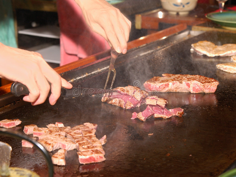 för pannakoppling för kock 10 yaki arkivfoto