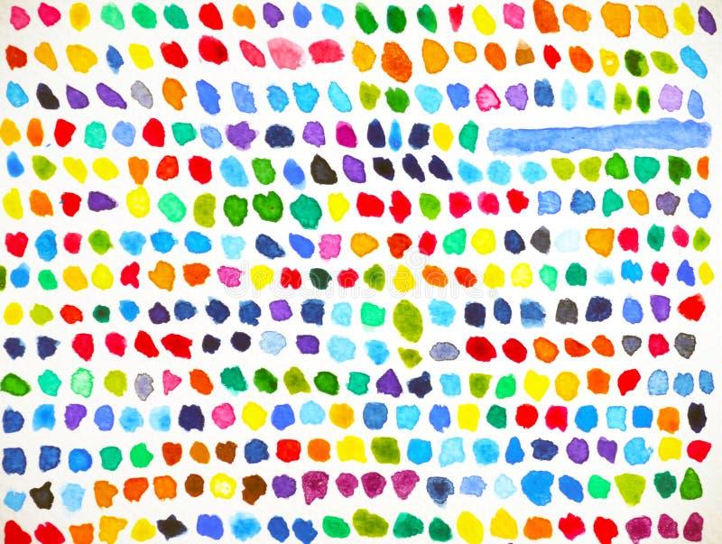 För pantonevattenfärg för abstrakt färg färgrik målning på papper vektor illustrationer