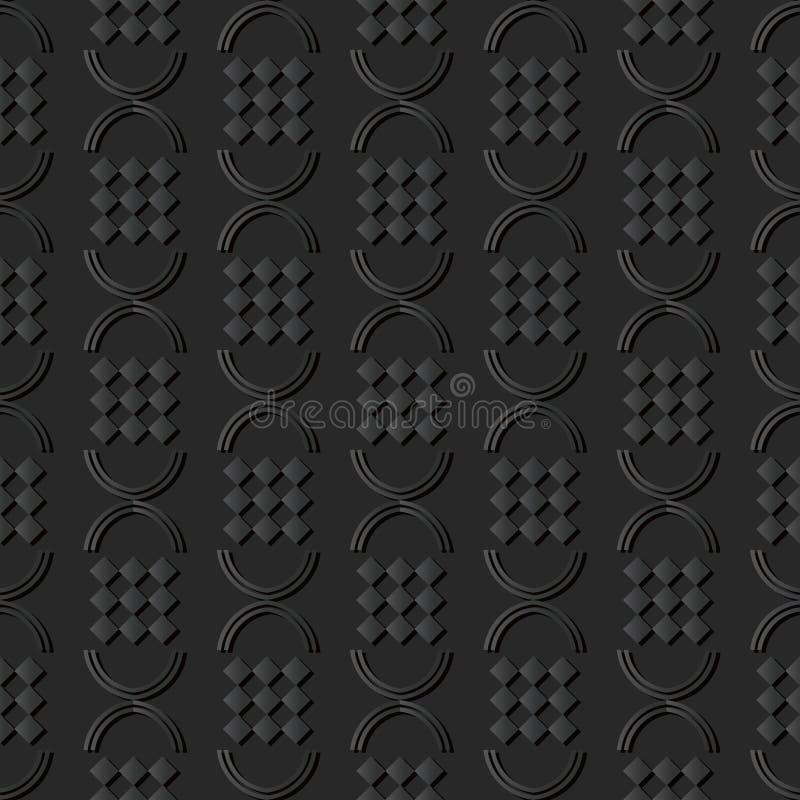 för papperskonst för mörker 3D geometri för kontroll för runda för cirkel för kurva halv stock illustrationer