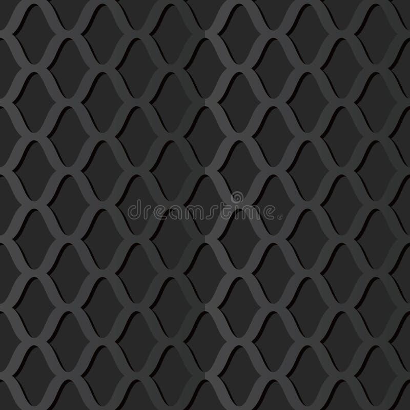 för papperskonst för mörker 3D linje för ram för kors för våg för kurva stock illustrationer