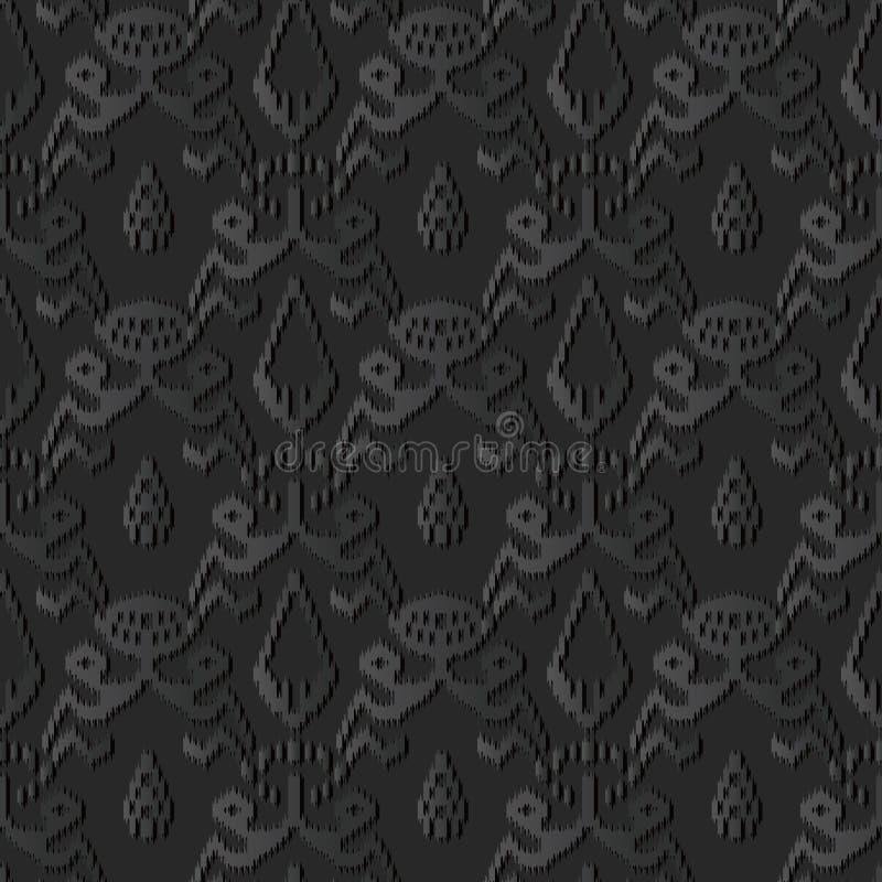 för papperskonst för mörker 3D ram för kors för aboriginer för kant för Sawtooth botanisk vektor illustrationer