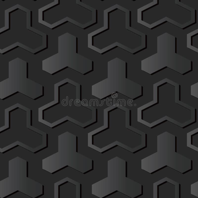för papperskonst för mörker 3D triangel för kors för geometri för polygon royaltyfri illustrationer