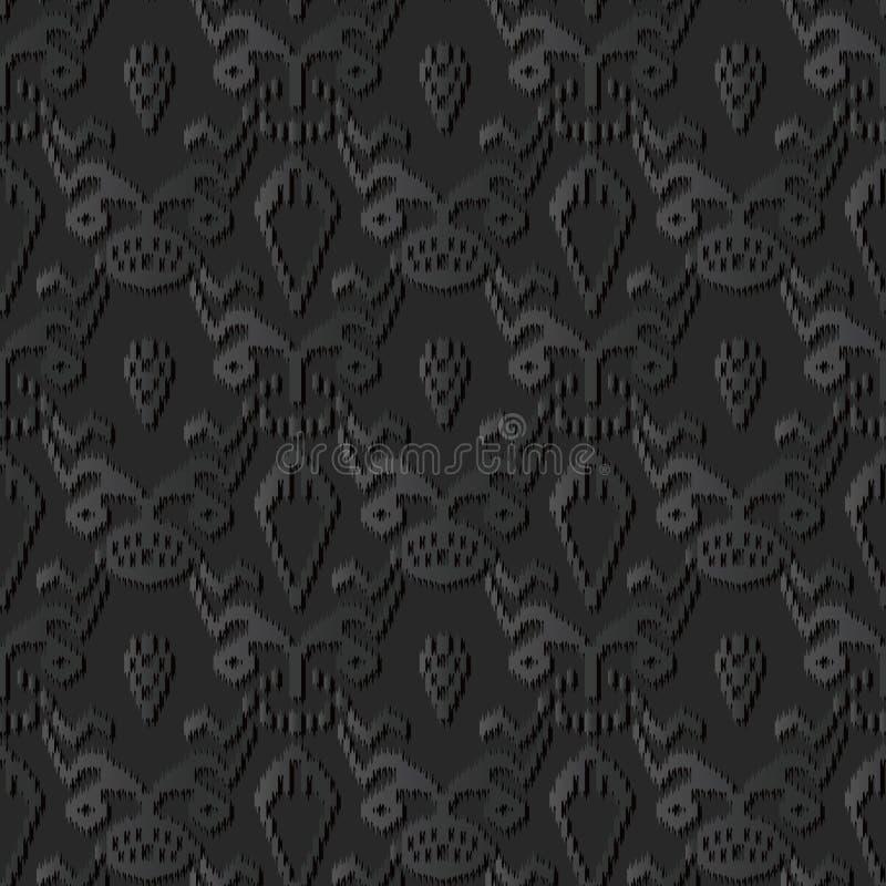 för papperskonst för mörker 3D växt för kant för Sawtooth botanisk vektor illustrationer