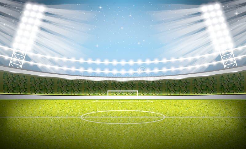 för paris för 01 stad stadion fotboll Fotbollarena stock illustrationer