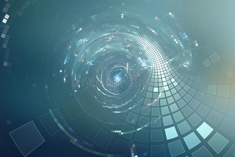 för partidisko för abstrakt begrepp 3D futuristisk bakgrund royaltyfri illustrationer