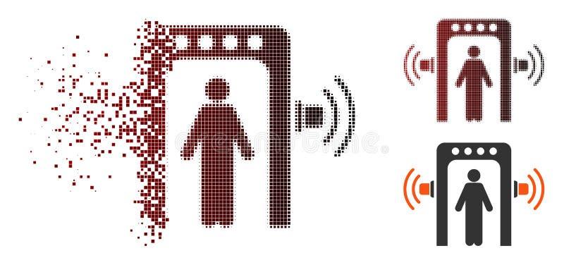 För passagerarekontroll för upplöst PIXEL rastrerad symbol royaltyfri illustrationer