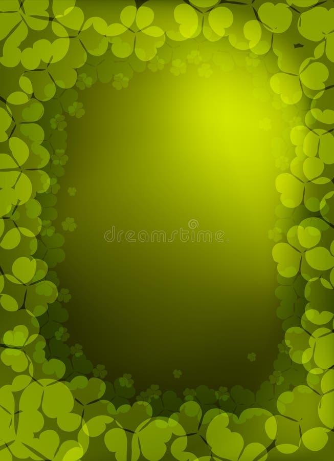 för patrick för bakgrundsväxt av släkten Trifoliumdag vektor st royaltyfri illustrationer