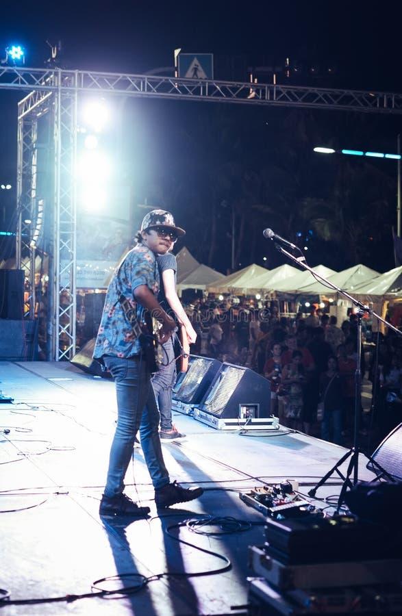 För Pattaya för musikfestival semesterort strand royaltyfri foto