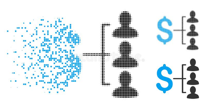 För pengarmottagare för skadat PIXEL rastrerad symbol vektor illustrationer