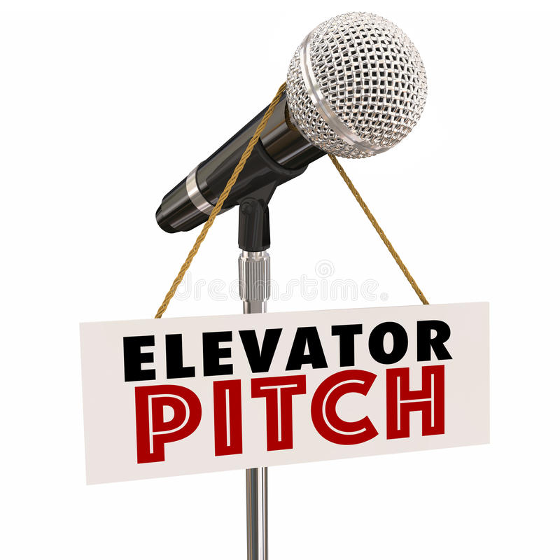 För Persaude för förslag för hissgradmikrofon kunder aktieägare stock illustrationer