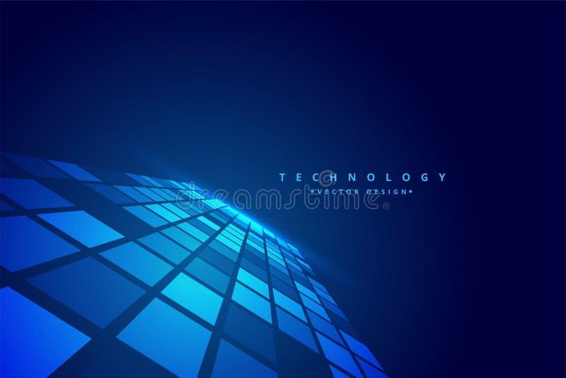 För perspektivmosaik för teknologi digital bakgrund vektor illustrationer