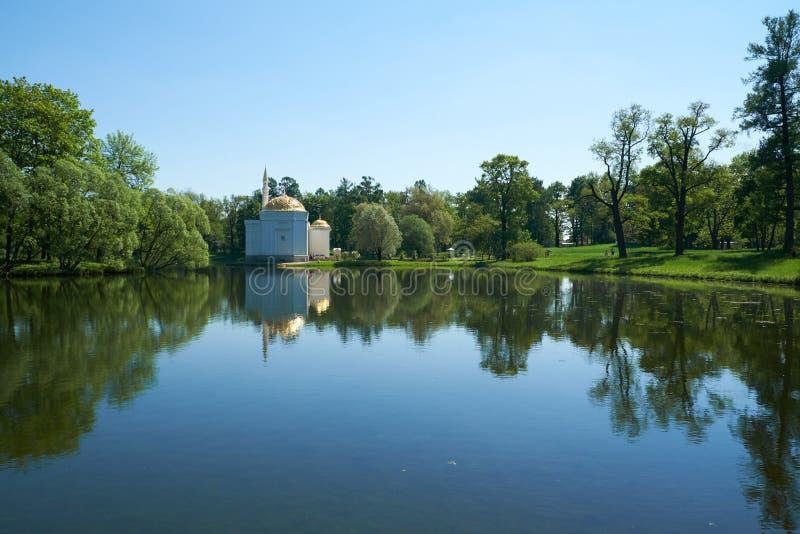 24 för petersburg för park för nobility för km för catherine besök för tsarskoye för st för center familj tidigare imperialistisk arkivfoton