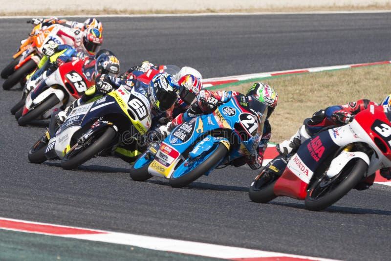 För ³pez för chaufför Là för Gonzà lez ¡, Alonso Moto3 Junior Team Estrella Galicia arkivfoton