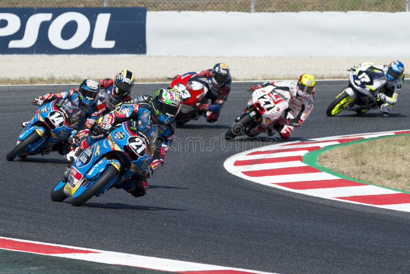 För ³pez för chaufför Là för Gonzà lez ¡, Alonso Moto3 Junior Team Estrella Galicia royaltyfria foton