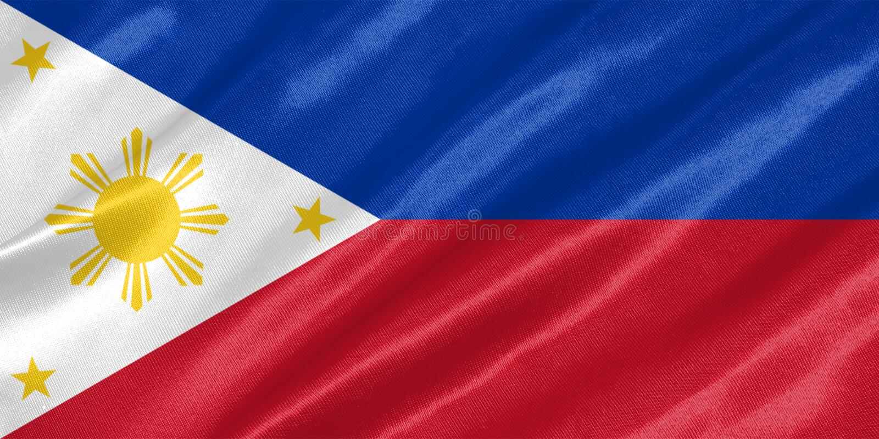 för philippines för tillgänglig flagga glass vektor stil royaltyfri illustrationer