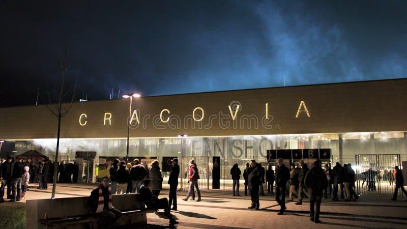 För PiÅ för JÃ-³zef stadion för sudski ', KS Cracovia royaltyfri bild
