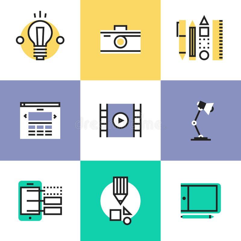 För pictogramsymboler för rengöringsduk och för grafisk design uppsättning royaltyfri illustrationer