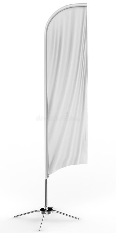 För pilbågeflagga för tom vit konkav åtlöje för baner för flagga för strand för sköld för utomhus- advertizing eller för lodlinje vektor illustrationer