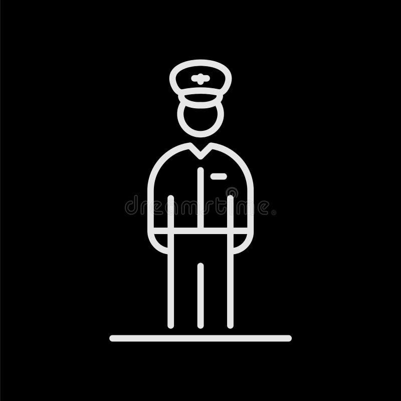 För pilot- illustration för stil symbolsavatar för flyg enkel plan vektor illustrationer
