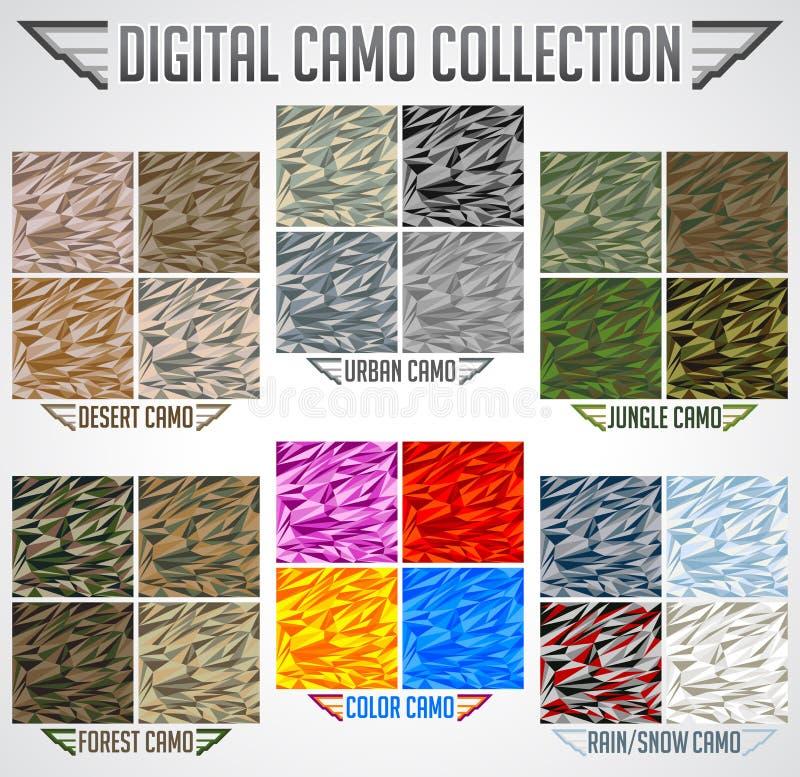 För PIXELkamouflage för sömlös vektor digital samling vektor illustrationer