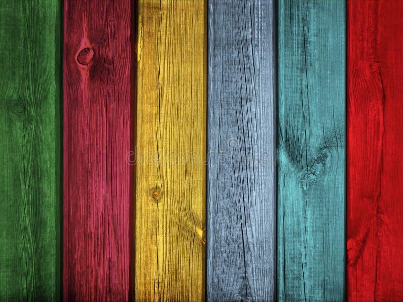 För plankabakgrund för tappning färgrik Wood textur arkivfoton