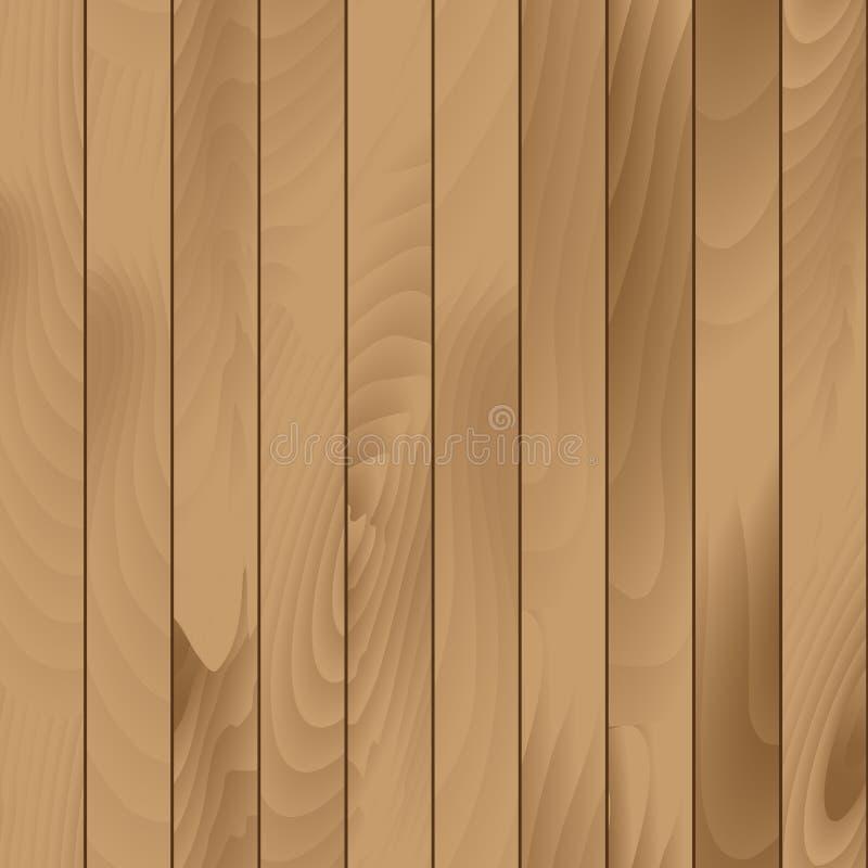 För plankatextur för vektor sömlös Wood bakgrund royaltyfri illustrationer