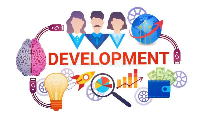 För planläggningsstrategi för utveckling effektivt baner för rengöringsduk för affär royaltyfri illustrationer