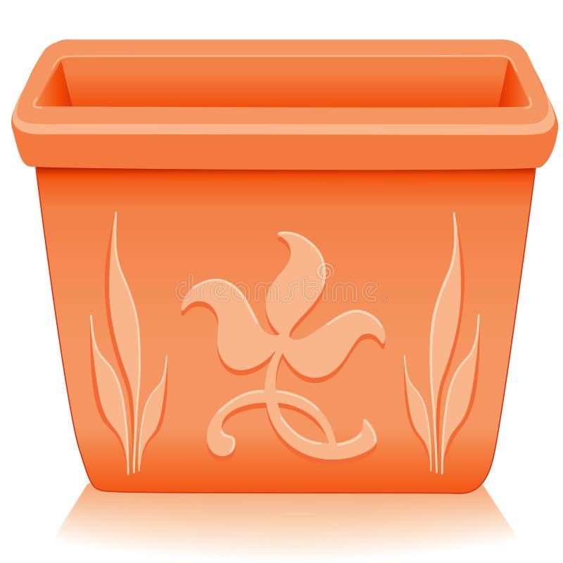 för planterfyrkant för design blom- terrakotta vektor illustrationer