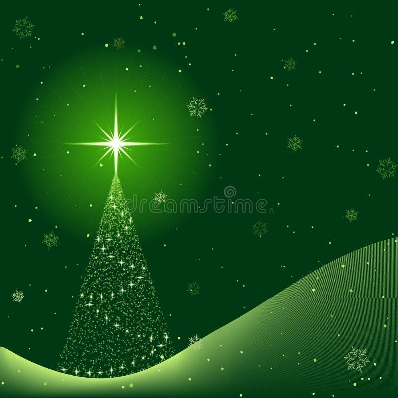 för platssnowfall för jul fridsam vinter royaltyfri illustrationer